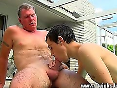 Hot gay Brett Anderson is one fortunate daddy, he's met up w