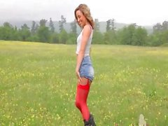 fetish forest nylon outdoor stripper