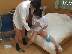 asian teen brunette nurse oral