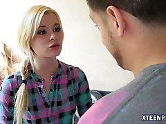 blonde close-up creampie fingering