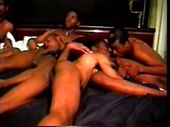 Well-endowed black guy moans while having his vicious dong sucked