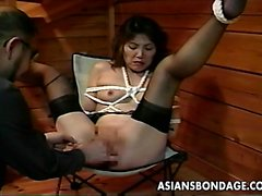 asian bdsm babe fingering