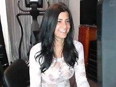 brunette lingerie masturbation solo webcam