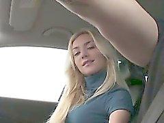 blonde handjob outdoor public teen
