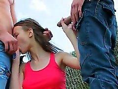 ball licking fucking group sex outdoor teen