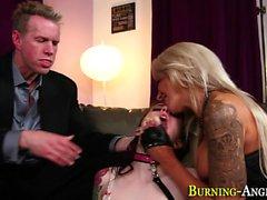 big boobs blondine brünett gesichts