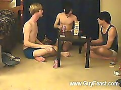 brunette gay shaved skinny twink