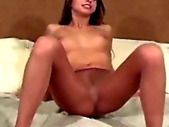 ass brunette masturbation nylon stockings