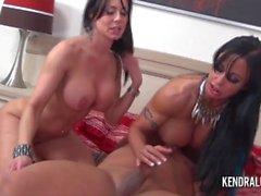 big-boobs threesome blowjob big tits