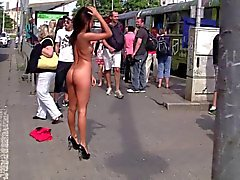 babes brunettes flashing pornstars public nudity