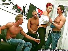 blowjob cum shot double penetration group sex