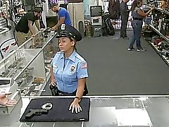 Dude banged this huge ass police officer