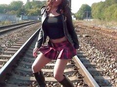 teasing strip tease teenager schoolgirl