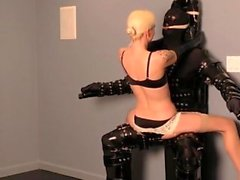 Hot mistress bondage and cumshot