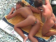 amatööri ranta julkinen alastomuus