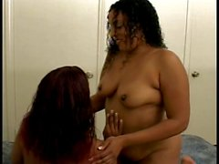 Filthy black bitches eat pussy and play with toys in bed