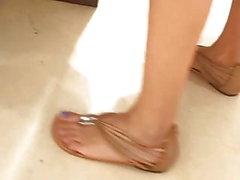 amateur fetichismo del pie cámara oculta