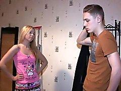 blonde blowjob cuckold russian small tits