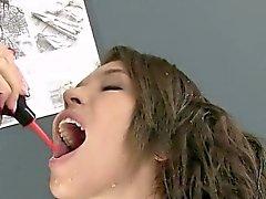 anal babe brunette fetish masturbation