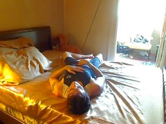 Relaxing in spandex
