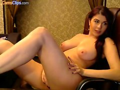 amateur big boobs fingering masturbation redhead