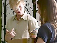 lesbisch blondine brünett behaart