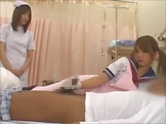 nurse handjob latex gloves japanese schoolgirl apron
