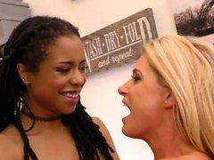 India Summer and Kira Noir Interracial Lesbian Sex