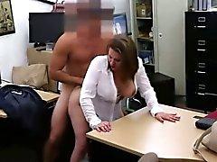 blowjob brunette hardcore milf public