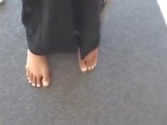 Young Indian Girl Shows her Ticklish Feet