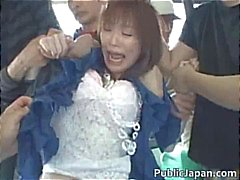 asiático boquete gangbang japonês ao ar livre