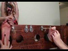 bdsm knick rotschopf kitzelt intensiv bondage-ballgag