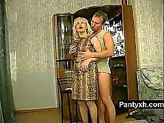 blonde mature nylon reality russian