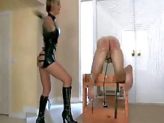 bdsm domination ass spanking latex