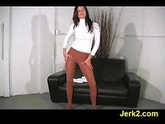 babe brunette nylon