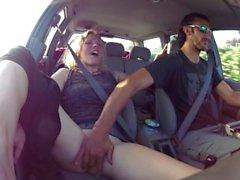 masturbate driving masturbation car