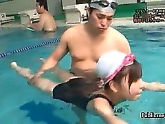 Sexy asian babe gets horny swiming part6