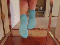 redhead kink feet socks nylons