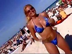 strand blinkande offentlig nakenhet