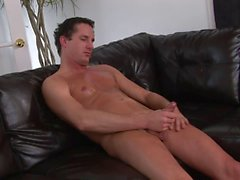 Sexy stud loves to jerk his cock on camera for your pleasure