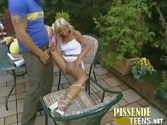 blond milf public