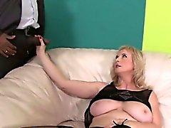 gros seins blond pipe interracial mature