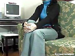 aziatisch pijpbeurt brunette