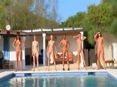 girls naked pool stripping bodies