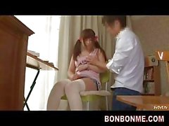 asiatico calze adolescente insegnante