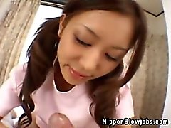 asian babe blowjob japanese pov