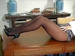 lingerie masturbation stockings