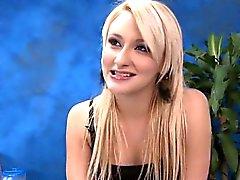 babe blonde lingerie massage