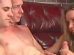 bisexual blonde hardcore threesome