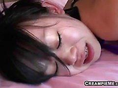 asian blowjob close-up